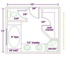 Image result for 8 x 10 master bathroom layout | Bathroom ...
