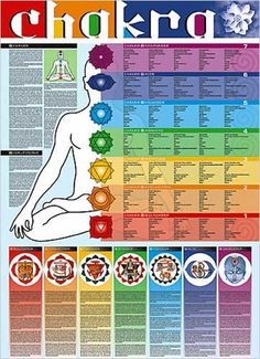 (27x39) Chakra Chart Educational Poster by Poster Revolution,.. repinned by http://Reiki-Master-Training.com