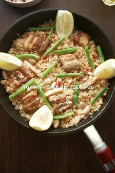 ローズマリーが香る♪豚肉といんげん豆のパエリア by ヤミー   レシピサイト「Nadia   ナディア」プロの料理を無料で検索