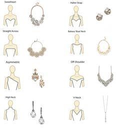 Necklace for neckline - Wedding Dress Trends 2019 – Necklace for neckline Fashion Terms, Fashion Mode, Dress Fashion, Gold Fashion, Trendy Fashion, Wedding Dress Necklines, Necklines For Dresses, Neckline Guide, Necklace For Neckline