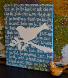 Prayers or Bible Verse Canvas Painting Blue Bird by GoldenPaisley - I NEED TO MAKE THIS