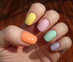 maybe not on fingernails but you get the idea...not so keen on the purple orange and yellow though :)