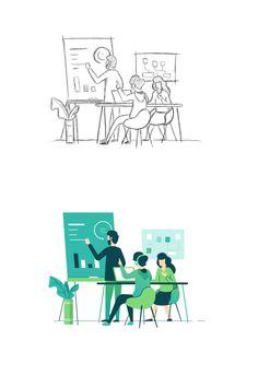 by Zazuly Aziz - by Zazuly Aziz Dribbble attach copy Art And Illustration, Flat Design Illustration, People Illustration, Business Illustration, Illustrations And Posters, Character Illustration, Web Design, Maps Design, Design Sites