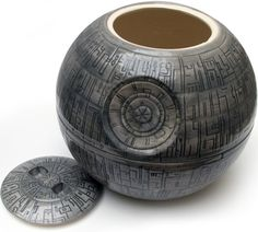 Death Star Cookie Jar.  I think the style could be modified to make coffee mugs and/or bowls, too.