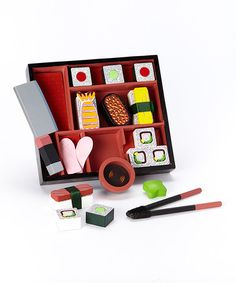 Love this Sushi Slicing Play Set by Melissa & Doug on #zulily! #zulilyfinds