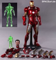 The Avengers: Iron Man Mark VII - Exclusive, Deluxe-Figur (voll beweglich) ... https://spaceart.de/produkte/tav024.php