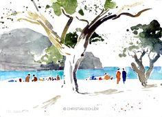 Am Strand, Kreta, 2009