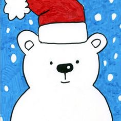 How to Draw a Holiday Bear