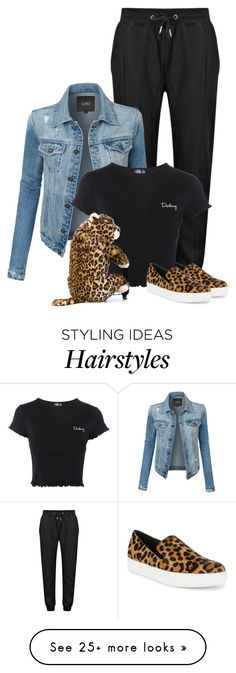 """Leopard #1"" by kimzarad1 on Polyvore featuring Steven by Steve Madden, LE3NO, Topshop and Dolce&Gabbana"