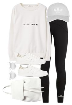 """""""Untitled #2852"""" by theaverageauburn on Polyvore featuring adidas, MANGO, Quay, Topshop and Mansur Gavriel"""