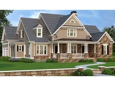 Craftsman+Home+Plan+with+3316+Square+Feet+and+4+Bedrooms+from+Dream+Home+Source+|+House+Plan+Code+DHSW077508