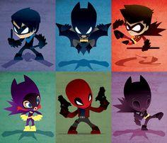 Bat Fam (Set of 6) Series 1 by Kwestone