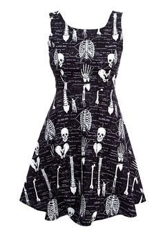 Glow-in-the-Dark Skeleton Dress - Exclusive