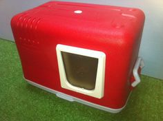 Cheap Outdoor Cat Houses | Cat House Cat Pod by stabob on Etsy Cooler into insulated outdoor cat ...