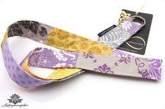 Schlüsselbänder von #Lieblingsmanufaktur: Schlüsselband lila, grau und gelb