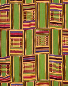 Africa | Kente Cloth Detail. (Ghanaian)