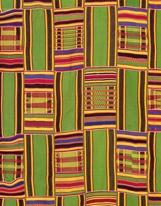 Africa | Kente Cloth Detail. (Ghanaian)