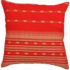 @Overstock - Red Decorative Elephants Cushion Cover - Add a touch of Asian elegance to your home with this gorgeous silk cushion coverThrow pillow cover boasts genuine Thai silk material Decorative accessory features fine gold design of Asian elephants and geometric patterns  http://www.overstock.com/Home-Garden/Red-Decorative-Elephants-Cushion-Cover/3396864/product.html?CID=214117 $17.49