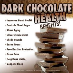 Now this is the kind of Chocolate Information I like to see!!!  Health Benefits!!  :)