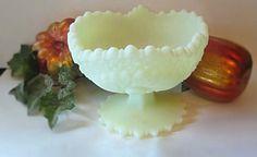 Vintage Fenton Satin Green Compote by mstookesmuzes on Etsy, $20.00