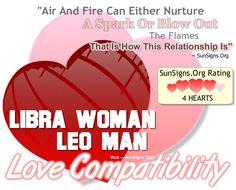 Libra woman and leo man sexually