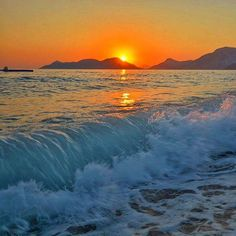 Amazing sunset at one of the most beautiful beaches in #Turkey - #Oludeniz Beach
