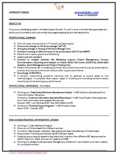 For 4 Months Experience Resume Format Pinterest Resume Format