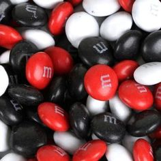 The best colors and that looks so cool, black & red & white M&M's... neato :)