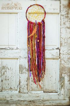 Bohemian Gypsy Dreamcatcher, Hippie Decor, Fair Trade, Red, Purple, Yellow, Boho Home Decor, Wall Hanging, Native American Wall Art on Etsy, $70.00