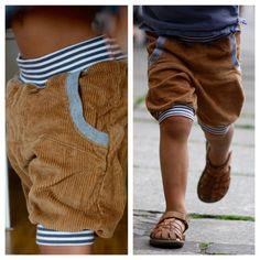 **Kurze Pumphose aus Cord**   Du suchst eine kurze Pumphose, Kinderhose oder Cordhose - diese Hose vereint alles in einem und ist perfekt für wärmere Tage. Sowohl durch den weichen Cordstoff als...
