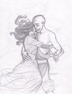 Aang and Katara all grown up.