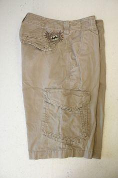 Billabong Built To Trash Coyote Tan Cargo Shorts Embroidery (Mens 32) Surf 2777 #Billabong #CargoShorts #Coyote
