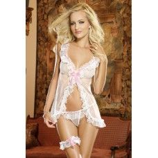 Babydoll & Thong White O/S - Dreamgirl Lingerie Babydoll and Thong Set White. One size fits most ladies sizes 2 through Weighing White Lingerie, Wedding Lingerie, Babydoll Lingerie, Sexy Lingerie, Lingerie Ladies, Lingerie Models, Revealing Lingerie, Ropa Interior Babydoll, Sexy Corset