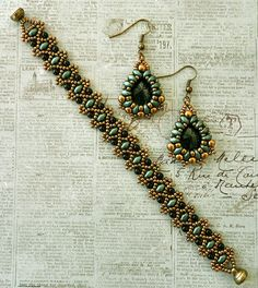 Linda's Crafty Inspirations: Bracelet & Earrings Set: Duo Bobble Band & Marquesa Earrings