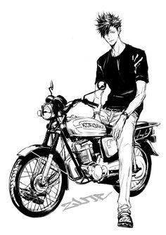 Tetsurou Kuroo on a motorcycle | T: Nekoma | Haikyuu!! ✧