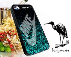 Nike just do it 'Glitter mint  iPhone 4/4s/5 Case  by bangaocase, $15.00