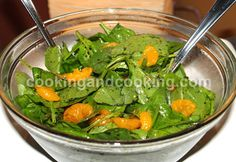 Spinach Salad with Mandarin Orange