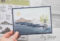 Stampin Up Waterfront Card by Stampin with Liz Design