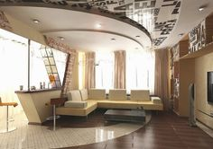 POP false ceiling ideas, LED ceiling lights in pop designs