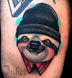 hipster sloth tattoo - Google Search