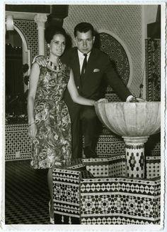 Mon Oncle Pepe (frère de ma mère) et sa femme Eli au palais de l'Alhambra à Cordoue (années 60)