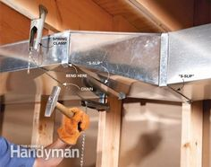 Home Repair: How to Flatten Basement Air Ducts to Gain Space