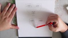 HOW TO : tutorial how to draw whimsical eyes and face inspired by Jane D...