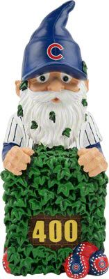 Chicago Cubs Gnome stuck in the Wrigley field ivy. Pin 3