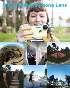 This Super Fisheye Phone Lens attaches to any smartphone and puts your whole world in a bubble. Just $20 for tonso photo fun. :D