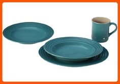 Le Creuset Stoneware 16-Piece Dinnerware Set, Caribbean - Improve your home (*Amazon Partner-Link)