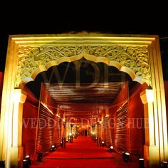 Entrance created with fibre carving.