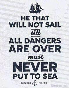 Put to sea