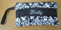 Handmade Pleated Wristlet fully lined with zipper by uniquefavors, $24.99