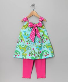Take a look at this Aqua Bird Tunic & Leggings - Toddler & Girls  by SILLY MILLY on #zulily today!